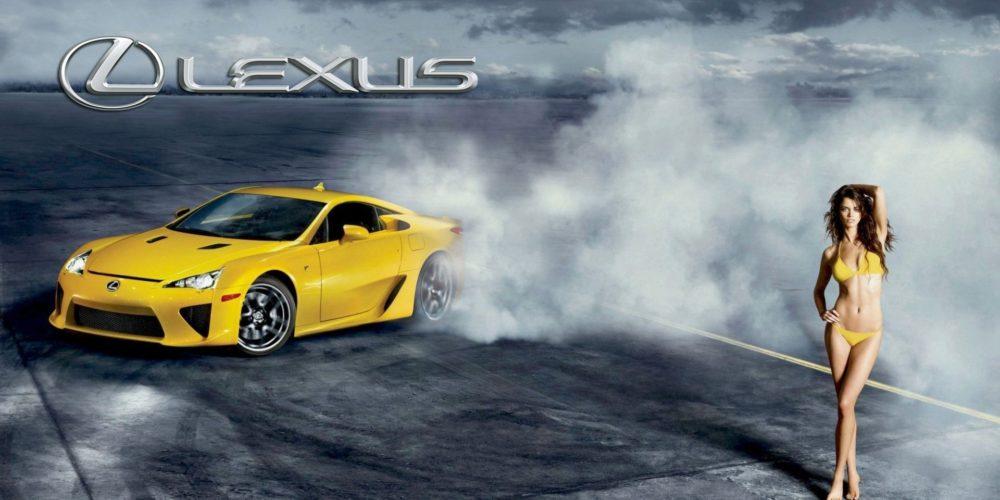 Lexus LFA Bikini Model Logo